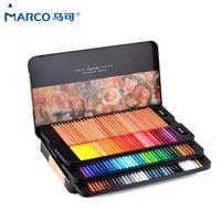 Марко Ренуар 24/36/48/100 Цвет жирной Professional арт Цвет карандаши в коробке 3100 цветные карандаши 72 школьные товары для рукоделия