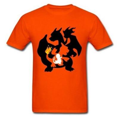5f96fb2e60 Camiseta charmander charmeleon charizard Pokemon hombres gráfico  personalizada camiseta masculina manga corta Hombre casual Camisa S 3XL en  Camisetas de La ...