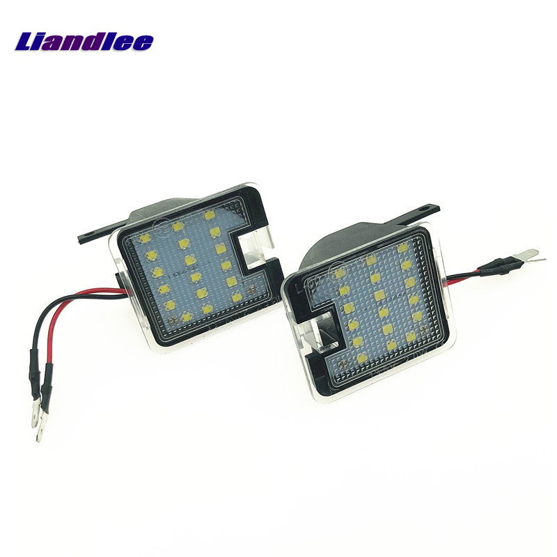 Liandlee For Ford Kuga / Escape 2008~2012 / For Ford Kuga C520 2012~2018 Car LED Car License Plate Light Number Frame Lamps 2pcs lot 12v 18 led smd car license plate light number plate lamps for ford focus c max mk2 03 08