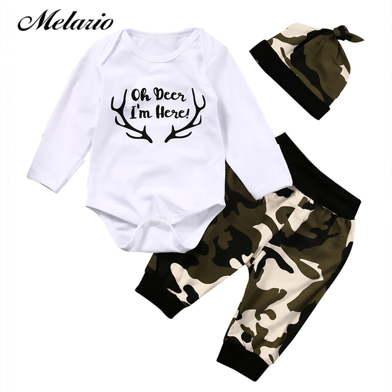 Melario Baby Clothing sets 2018 New Autumn Baby Boys&Girls clothes Letter Printing T-shirt+pants Kids clothing set 0~2Y