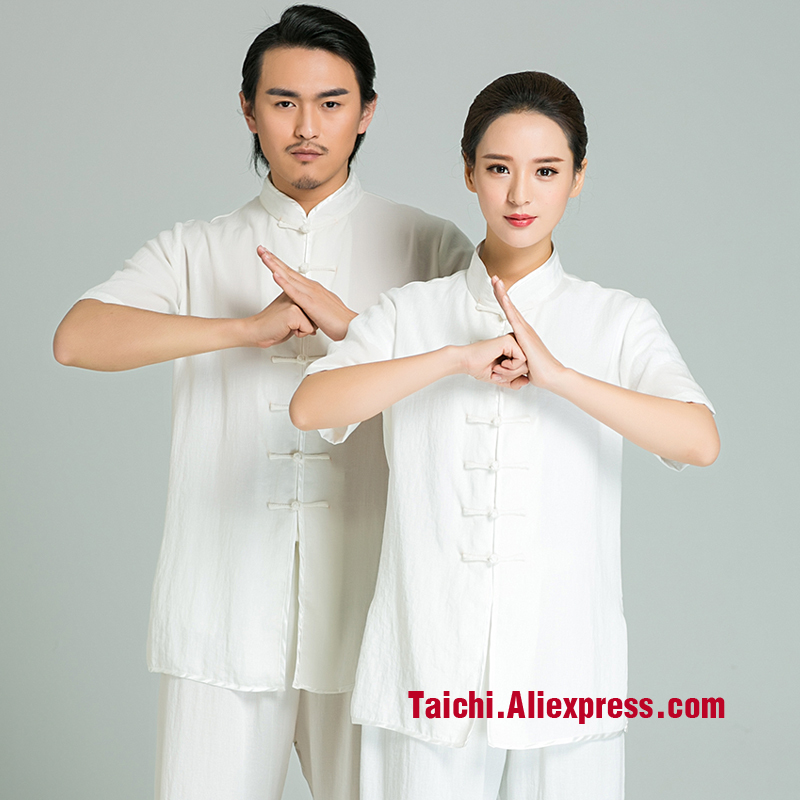 Handmade Linen Tai Chi Uniform Wushu, Kung Fu,martial Art Suit,short Sleeves And Long Sleeves White ,pink,gray,red,black ,blue