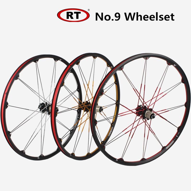RT No.9 26inch Mountain bike bicycle Wheel Set Front 2 Rear 4 sealed Bearing 120 Rings wheels Rim Wheelset