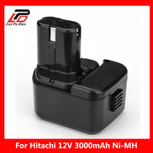 For HITACHI 12V 3.0Ah Battery 3000mAh NI-MH Power Tool Replacement Battery HIT for EB1212S EB1214L EB1214S EB1220BL