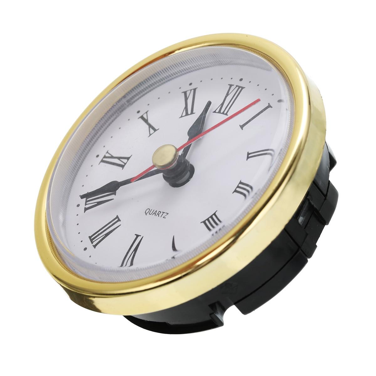 "Classic Clock Craft Quartz Movement 2-1/2"" (65mm) Round Clocks Head Insert Roman Number Mayitr"