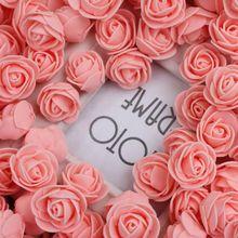 144 шт./упак. 2 см мини пены PE Искусственный цветок розы головы для рукоделия венок Букеты Свадебные Скрапбукинг вечерние дома украшения