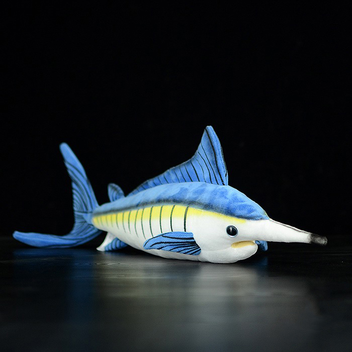 15.7 inch / 40cm Long Lifelike Marlin Stuffed Toys Soft Sea Animals Plush Toy Huggable Fish Plush Dolls For Kids bigger size soaked absorbent toy growing animals funny kids swell toy sea
