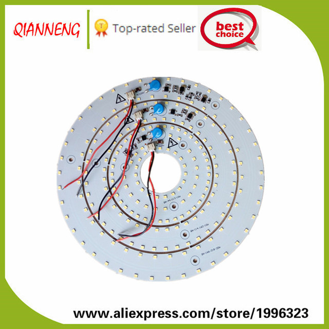 High voltage linear constant current Driverless AC-LED light source module ring 12W 20W ceiling light PCB board dimmable