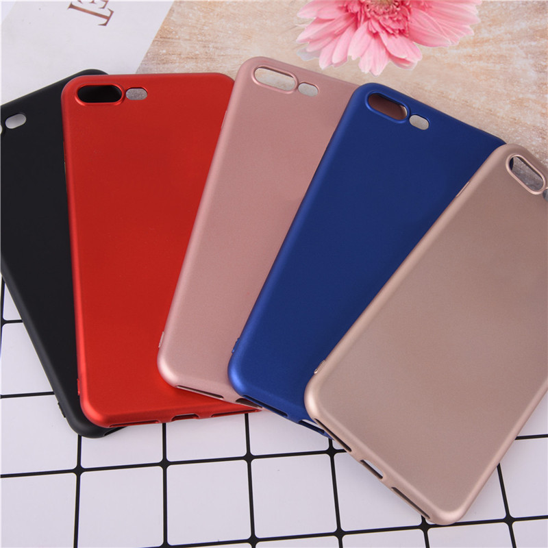 The Newest 5.5 inch Soft TPU Protective Shell for iPhone 7plus Type 5.5 Ultra-thin Soft Phone Case for iPhone7plus Chinese Red