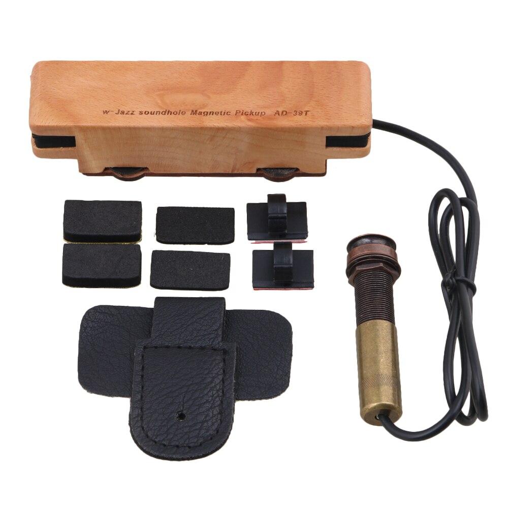 Yibuy Passive Magnetic Soundhole Pickup Adjustment 6.5mm for Acoustic Guitar