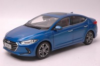 1:18 Diecast Model for Hyundai Elantra 6 Lingdong 2016 Avante Alloy Toy Car Miniature Collection