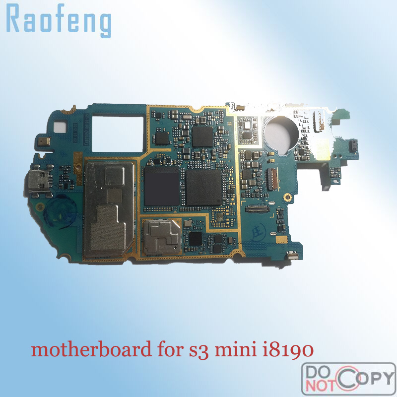 Raofeng  Unlocked for Samsung galaxy S3 mini i8190 i8200 motherboard worked well mainboard   with full chips Logic Board