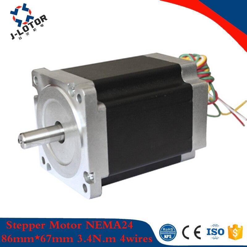 JL86HS67-5904 1.8 gegree 86mm*67mm 2phase hybrid stepper motor NEMA34 3.4N.m 5.9A 4-wires printer stepping motor