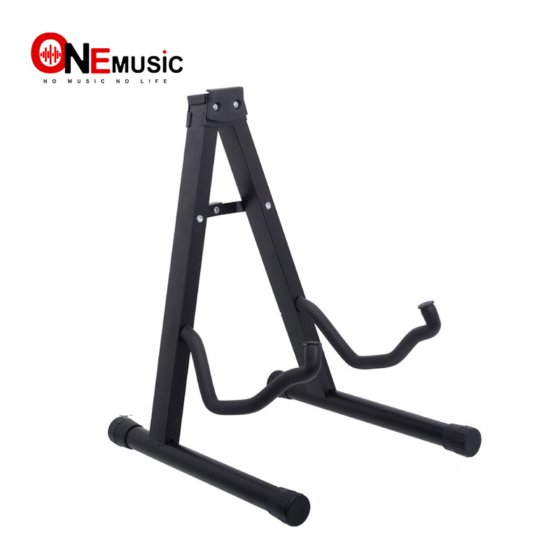 portable guitar folding fold tripod gear tubular a shape acoustic electric guitar stand black in. Black Bedroom Furniture Sets. Home Design Ideas