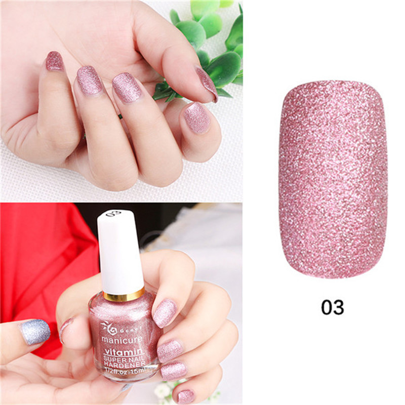 NEW 1 Pc 15 ml Professional Metal Color UV Gel Polish Three-Dimensional Granule Shinning Long Lasting Nails Art Polish