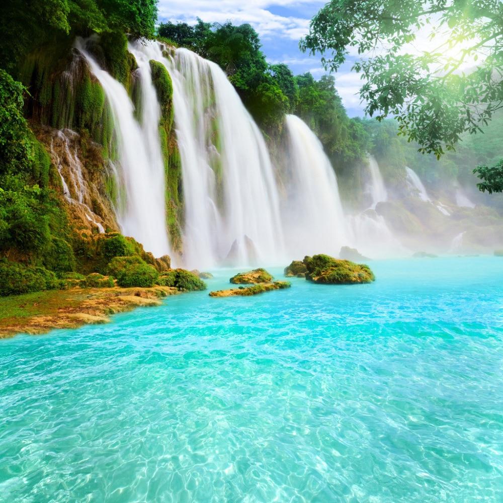 SHENGYONGBAO 10x10ft Waterfall Art Cloth photography backdrops studio props photography background PBQ100
