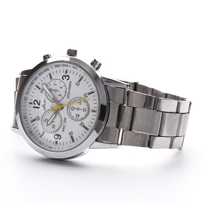 Clock Quartz Relogio Silver