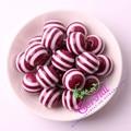 Envío Libre 20mm 100 pc/lot Vino Borgoña Perlas de Resina de Rayas de Color Para Hacer La Joyería CDWB-517103