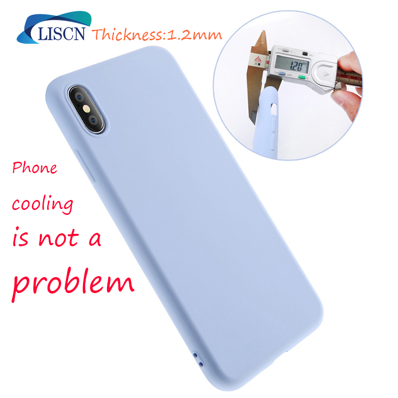 LISCN Original Solid Colour Silicone Phone Case for Huawei P30 P30 Pro Mate 20 lite P Smart 2019 Soft Candy Color Case in Fitted Cases from Cellphones Telecommunications