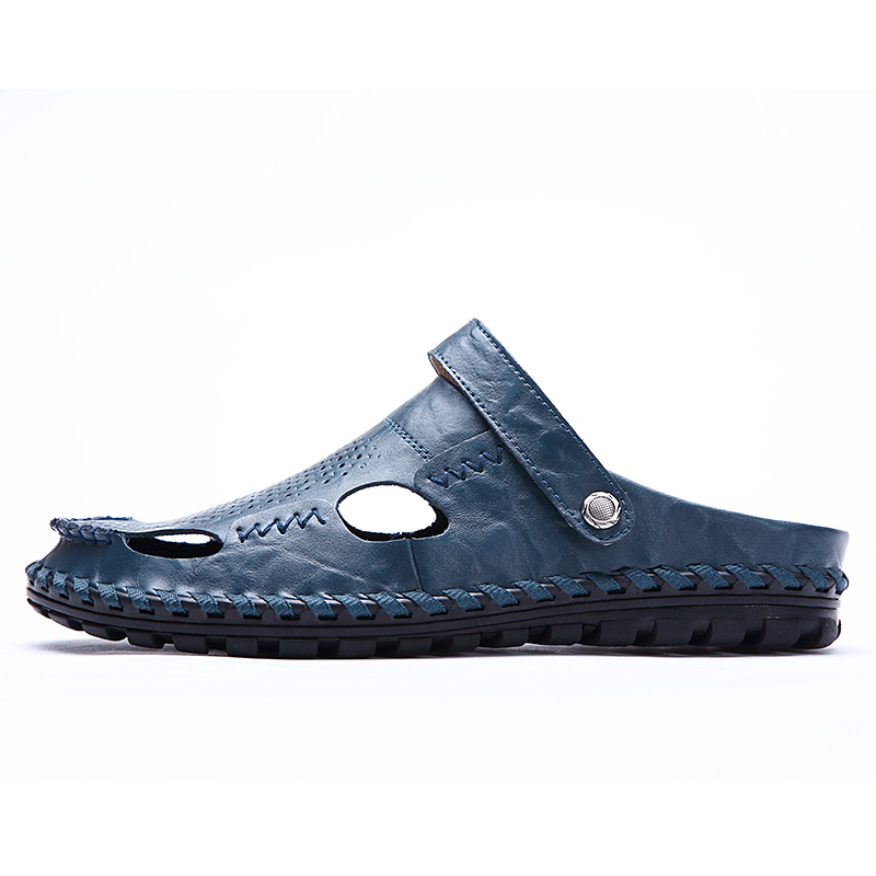 Valstone Full Handsewn Leather Sandals Perforated summer cool shoes - Men's Shoes - Photo 2