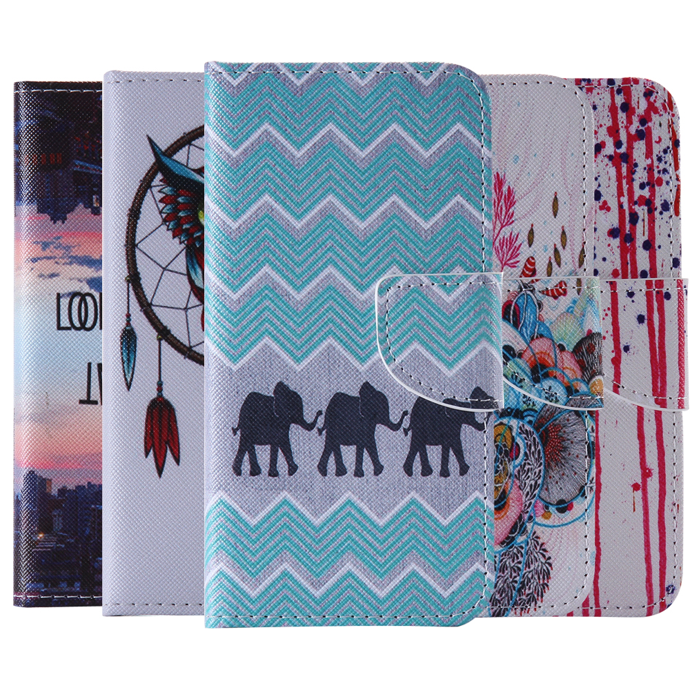 Fold Cases For Samsung S5 S5 Mini Wallet Card Slot Elephant Coque For G9006V G800 Case