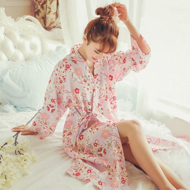 2016 de inverno mulheres sleepwear nightwear kimono robe soild casual cinto elegante casa de banho robe spa roupão de banho de algodão
