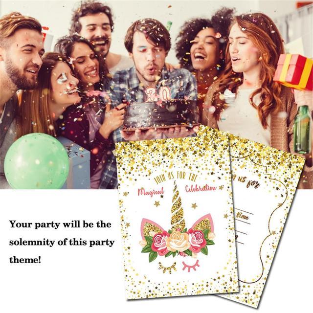 Descuentos 24 Piezas Brillo Cumpleaños Invitación Tarjeta