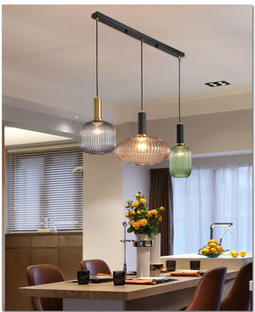 Nordic restaurant chandelier bar bed simple modern Japanese personality bedroom glass designer lamps