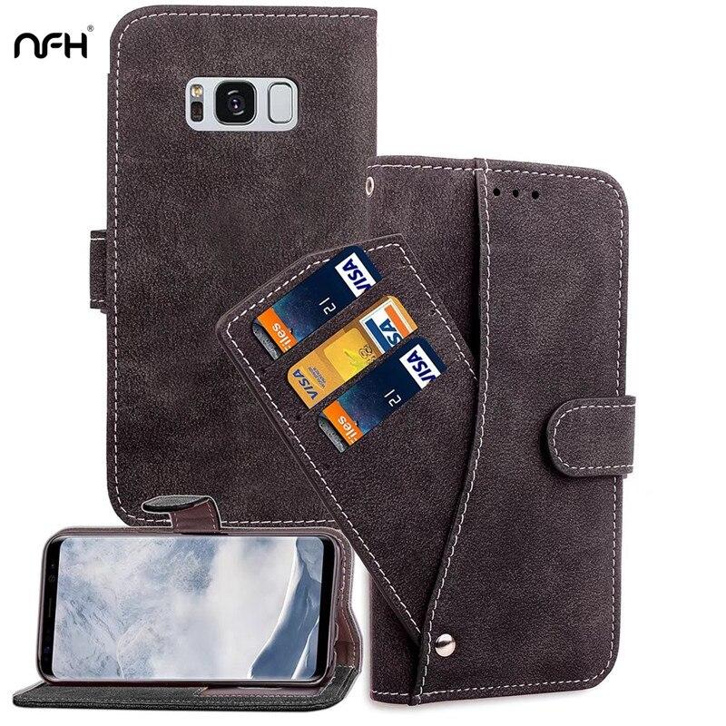 NFH Luxuxmappen S8 plus Leder Kartenhalter Geld Slot Foto rahmen ...