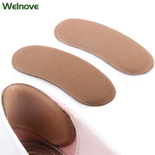 2Pcs Sticky Fabric Shoe Back Heel Inserts Insoles Pads Cushion Liner Grips Sponge After Half a Yard Thick Pad Foot Care Z04901