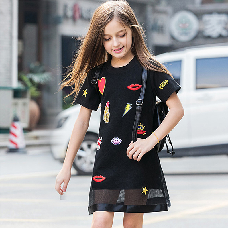 269333e6117c8 big girls dresses summer 2018 teen girl casual dress little girls black dresses  size for 45 6 7 8 9 10 11 12 13 14 15 years kids - aliexpress.com - imall.  ...