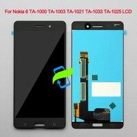 5.5New Original For Nokia 6 LCD TA 1000 TA 1003 TA 1021 TA 1033 TA 1025 Display Touch Screen Digitizer Assembly For NOKIA 6 LCD