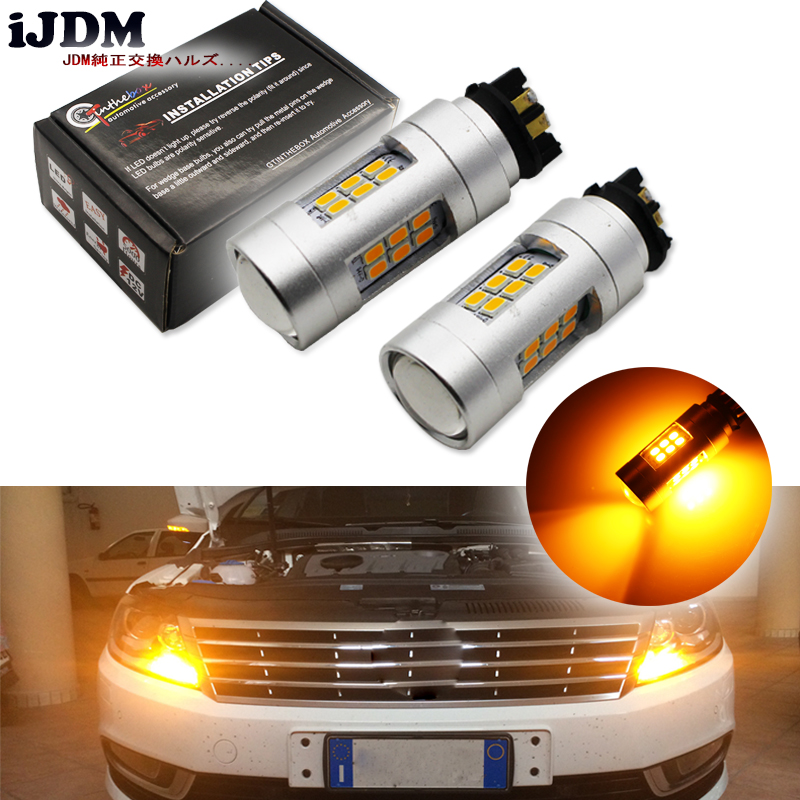 Amber Error Free PWY24W PW24W LED Bulbs For Audi A3 A4 A5 Q3 VW MK7 Golf CC Front Turn Signal Lights,For BMW F30 3 Series DRL hid white 15 smd pw24w pwy24w led bulbs for audi bmw vw turn signal or drl light