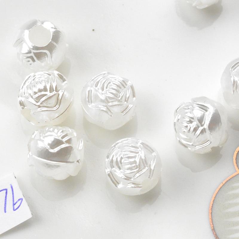 FLTMRH 10 мм шт. 70 шт. цветок с плоской задней поверхностью полукруглый имитация жемчуга бусины камея кабошон Diy ювелирных поиск решений