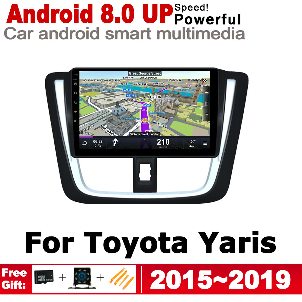 ZaiXi Android IPS GPS car player for Toyota Yaris 2015 2019 2 Din Autoradio navigation map HD Screen Stereo Bluetooth WiFi in Car Multimedia Player from Automobiles Motorcycles