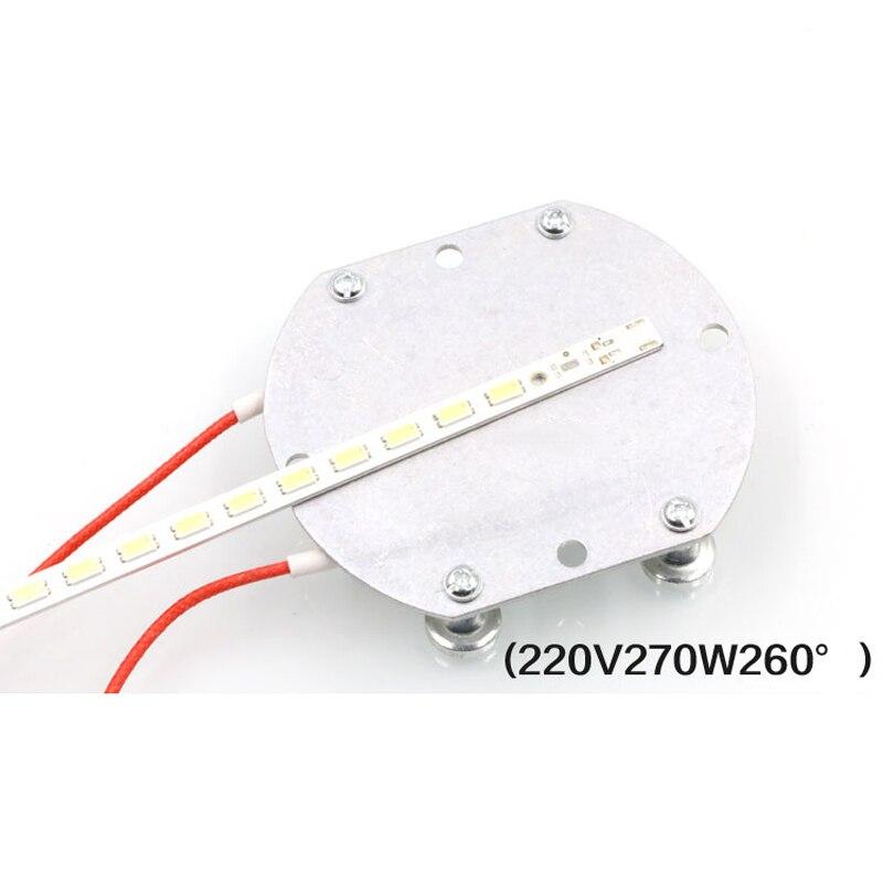 """עופרות 1pc / 2pcs החדש 220V LED מסיר BGA הריסת שבב ריתוך הלחמת תחנת חימום אלומיניום PTC לוח 74 * 63 * 7 מ""""מ (5)"""