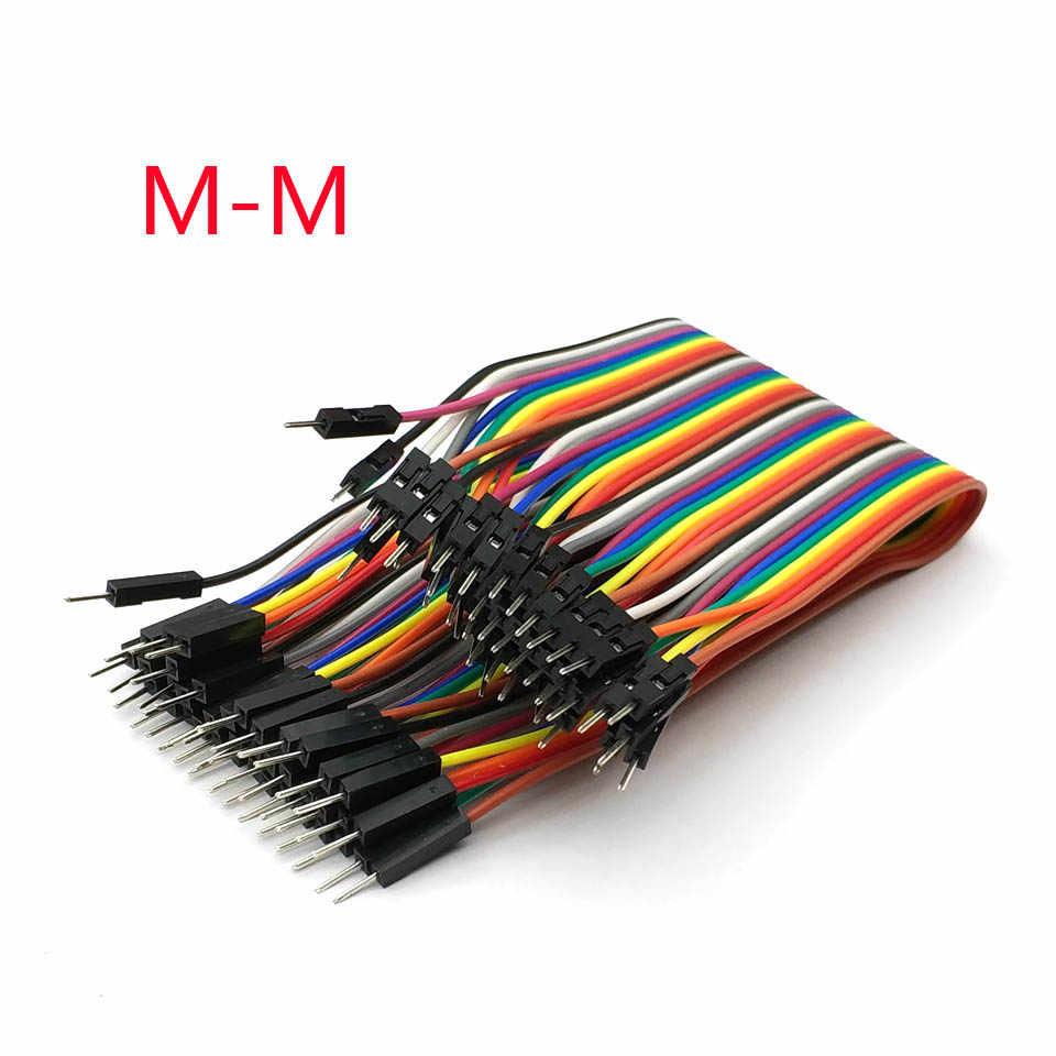 40 adet dupont kablo jumper tel dupont hattı M-M dupont hattı 1 P-1 P 10/20/ 30CM 1 P-1 P
