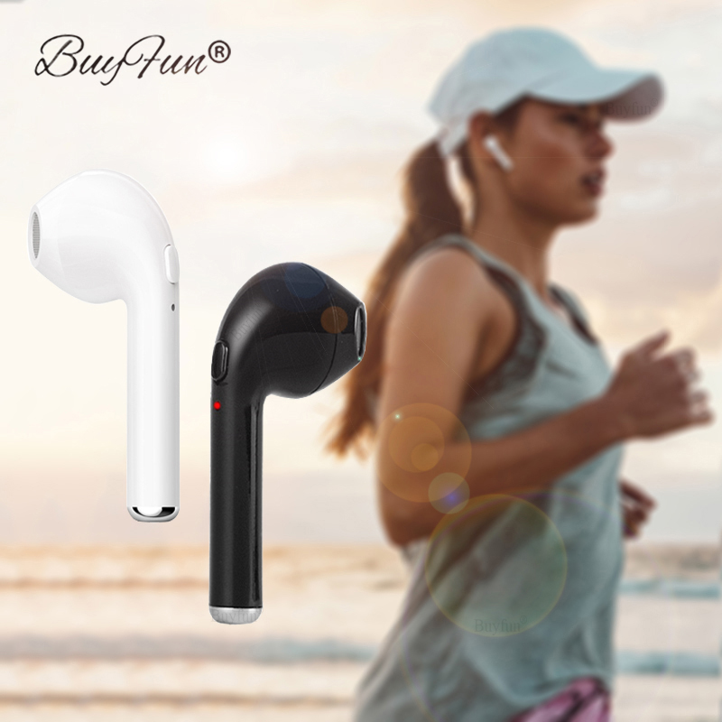 TWS I7 Bluetooth Earphone In-Ear Music Wireless Earbud With Mic For Apple iPhone X Samsung Xiaomi Single Right Ear head phone lymoc v8s business bluetooth headset wireless earphone car bluetooth v4 1 phone handsfree mic music for iphone xiaomi samsung