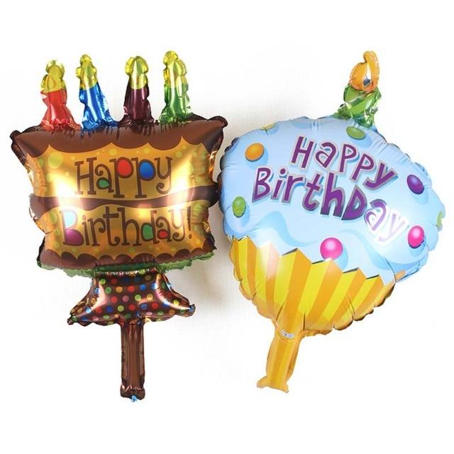 2432cm Mini Cake Balloons Cute Aluminum Foil Balloons Happy