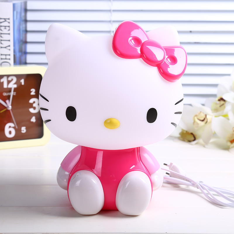 Cute Cartoon Hello Kitty LED Eye Lamp Bedside Lamp Reading