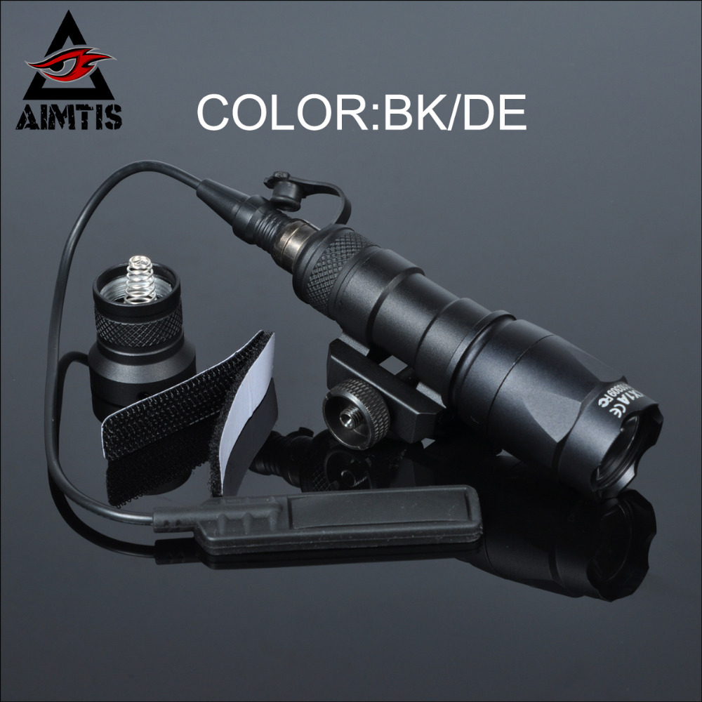 AIMTIS M300C Tactical Weapon Light Constant / Momentary Scout Light Waterproof Rifle Hunting Flashlight Fit 20mm Picatinny Rail aimtis tactical x300 ultra handgun led weapon light waterproof hunting weaponlights tactical spotlight cree q5 flashlight