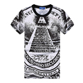 2017 New Arrival New Harajuku Style Clothes Men Big Yards T Shirt The pyramids of Egypt Print 3D T-Shirt Brand Design Camisetas