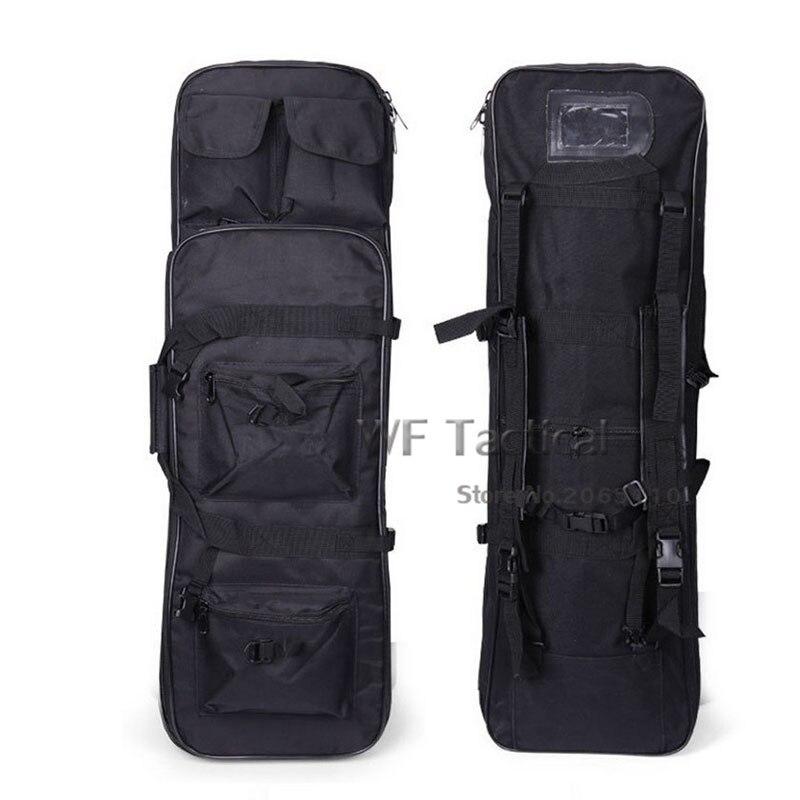 85 cm 100 cm 120 cm double fusil carré sac de transport tactique sac à dos de chasse avec bandoulière étui de Protection pistolet