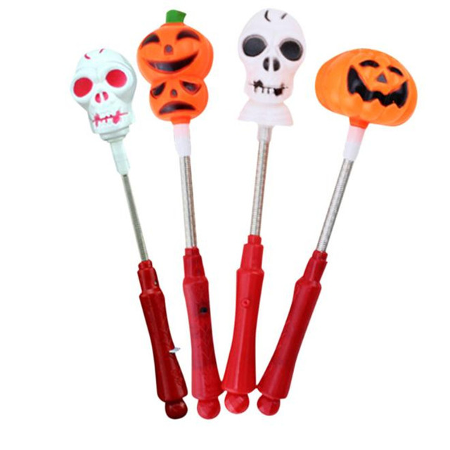 halloween novelty toys children kids play jokes toys halloween supplies props luminous pumpkin shake bar p4