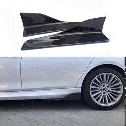 Dla BMW E87 E90 E92 E93 F80 F82 F83 M4 F10 M5 G30 wszystkie samochody uniwersalny Carbon Fiber stopnie boczne fartuch rozgałęźniki klapy Winglets