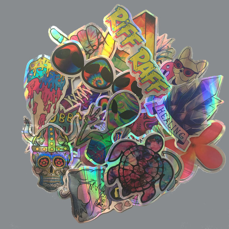 20Pcs/Lot Cartoon ET Alien Stickers Blink Funny Cool Waterproof Luggage Laptop Motorcycle Skateboard Phone Flash Graffiti Decals