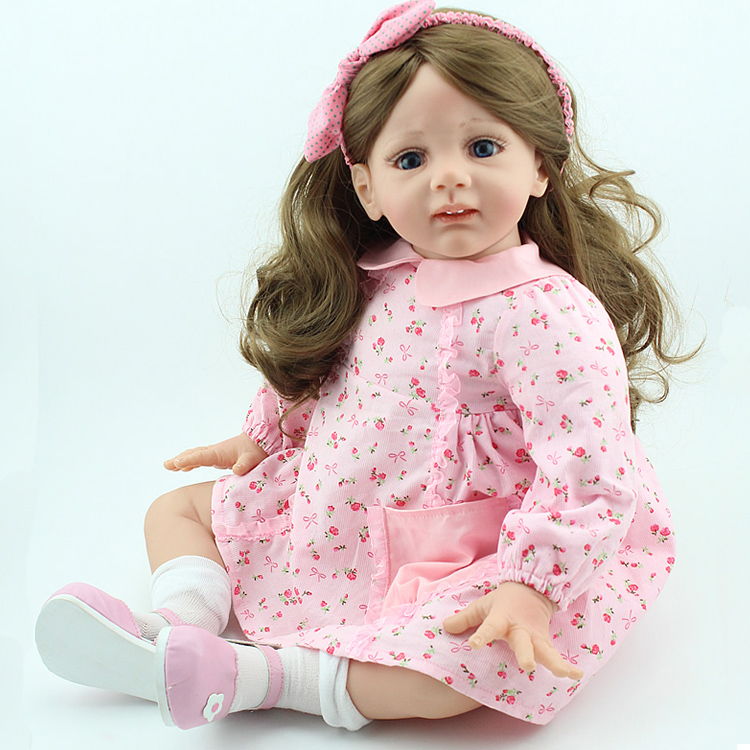 Hot selling silicone reborn baby dolls girl accompany play house lifelike doll kid high-end christmas new year gifts collection все цены