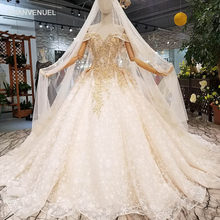 268e23f7c951b LS001244 2018 new design customized wedding gowns off the shoulder  sweetheart ball gown beaded flowers wedding dress long train