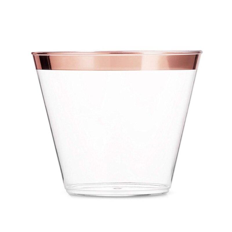 50Pcs Moda Afiação Decoração Suco De Copo De Vidro De Vinho de Plástico Descartável Copo de Vinho para a Festa de Casamento Cocktail de Champanhe Copo Suprimentos