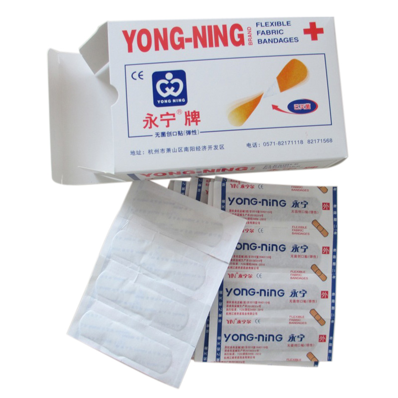 100Pcs Box Band Aid Family First Aid Plaster Sterile Haemostasis Stickers Adhesive Wound Dressing Paste Medical