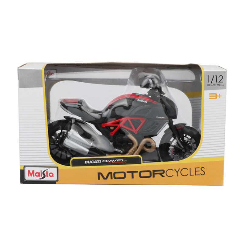 Maisto 1:12 Sepeda Motor Model Mainan Paduan Diavel CARBON Sepeda Motor Mobil Koleksi Mainan untuk Anak Laki-laki